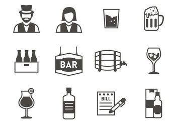Free Bar Icons Vector - vector gratuit #400631