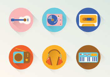 Music Vector Icons - бесплатный vector #400661