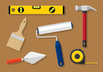 Construction Level Tools Vector - Kostenloses vector #400671
