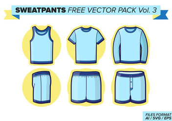 Sweatpants Free Vector Pack Vol. 3 - бесплатный vector #400701