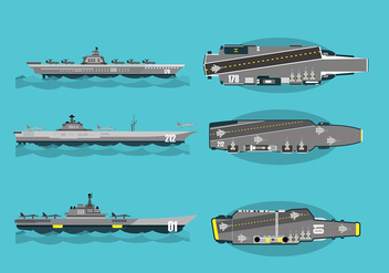 Aircraft Carrier Free Vector - бесплатный vector #400721