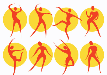 Free Zumba Icons Vector - Kostenloses vector #400791