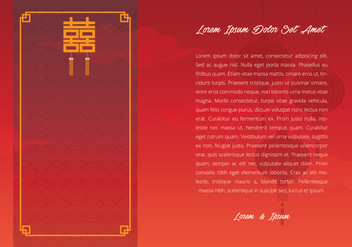 Chinese Wedding Template Illustration - Kostenloses vector #400871