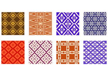Free Songket Pattern Vector - бесплатный vector #400931