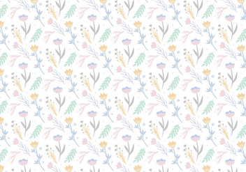 Floral Pattern Background - vector gratuit #400951