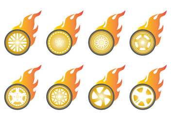 Free Burn Wheels Icon Vector - vector gratuit #400961