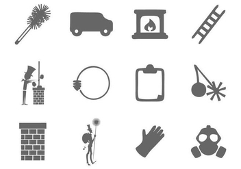 Free Chimney Sweep Icons Vector - vector gratuit #400971