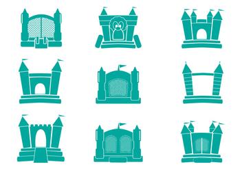 Icon vector Bounce House - vector gratuit #400981