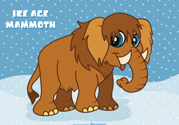 Free Ice Age Cartoon Mammoth Vector - vector gratuit #401171