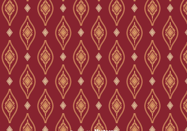 Songket Ornament Seamless Pattern Vector - vector #401221 gratis