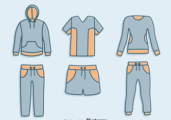 Hand Drawn Tracksuit Vector Set - Free vector #401231