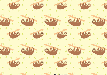 Sloth And Baby Sloth Seamless Pattern - Free vector #401271