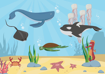 Free Seabed Vector - Kostenloses vector #401291