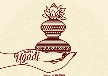 Free Happy Ugadi Vector Card - бесплатный vector #401361