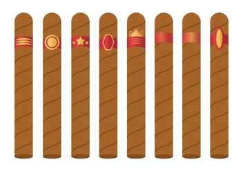 Free Cigar Label Vector - vector #401401 gratis