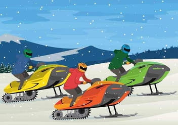 Free Snowmobile Illustration - Free vector #401421