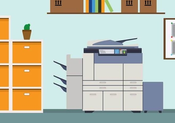 Free Photocopier Illustration - vector gratuit #401461