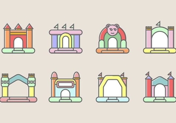 Bounce House Icon - Free vector #401471