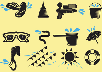Songkran Icon - Free vector #401531