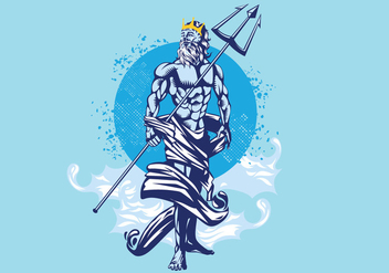Poseidon Vector Illustration - Kostenloses vector #401541