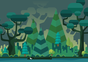 Swamp Vector Background - бесплатный vector #401551