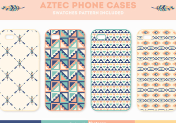 Free Aztec Phone Case Vector Set - vector gratuit #401561