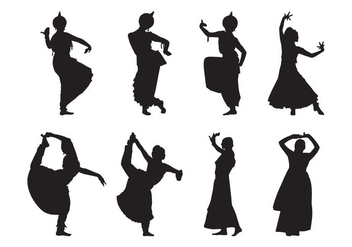 Free Indian Dance Silhouette Vector - Free vector #401591