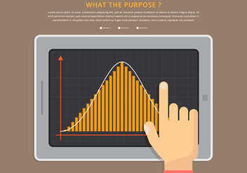 Bell Curve Infographic Template - vector #401631 gratis