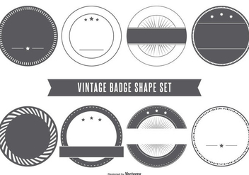 Blank Vintage Badge Shapes - Kostenloses vector #401691