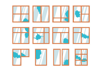 Vector Of Broken Window - vector gratuit #401701