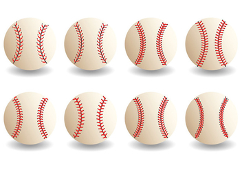 Free Baseball Laces Icons Vector - Free vector #401711