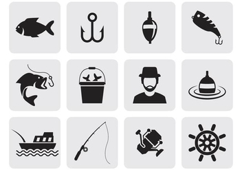 Free Fishing Icons Vector - vector #401721 gratis