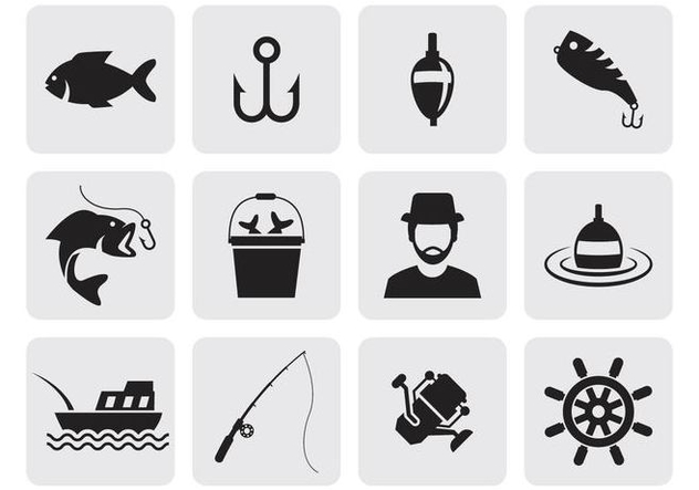 Free Fishing Icons Vector - Free vector #401721