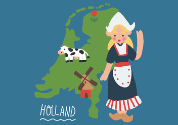 Cute Girl from the Netherlands - Kostenloses vector #401831