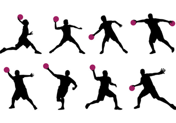 Silhouette Of Dodge Ball Player - vector gratuit #401851