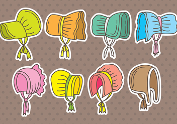 Bonnet icons - vector #401881 gratis