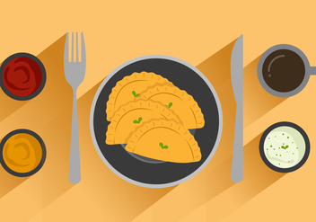 Free Empanadas Vector Illustration - vector gratuit #401941