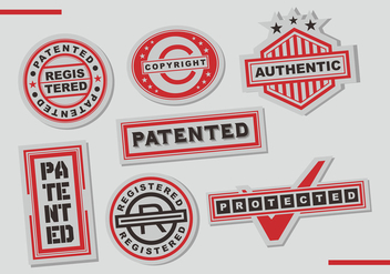 Patent Stamps Vector Art - бесплатный vector #402021
