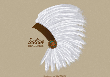 Free Vector Indian Headdress - Kostenloses vector #402071
