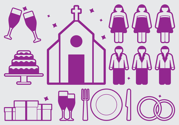 Wedding Planner Icon - Kostenloses vector #402081