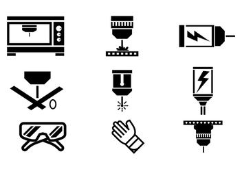 Laser Cut Vector Icons - бесплатный vector #402091