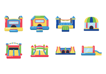 Free Bounce House Vector - бесплатный vector #402111