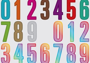 Laser Cut Numbers - vector gratuit #402131