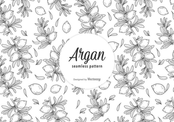 Free Argan Vector Seamless Pattern - Free vector #402251