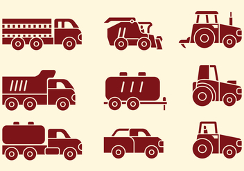 Agriculture Machines Icons - vector #402281 gratis