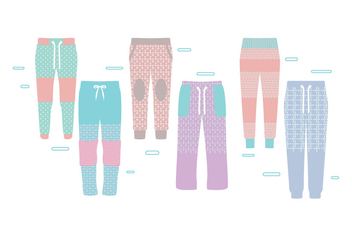 Sweatpants Colorful Vector - vector #402411 gratis