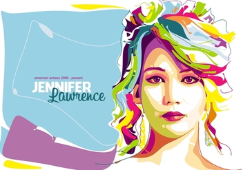 Jennifer Lawrence - in Popart Portrait - Free vector #402431
