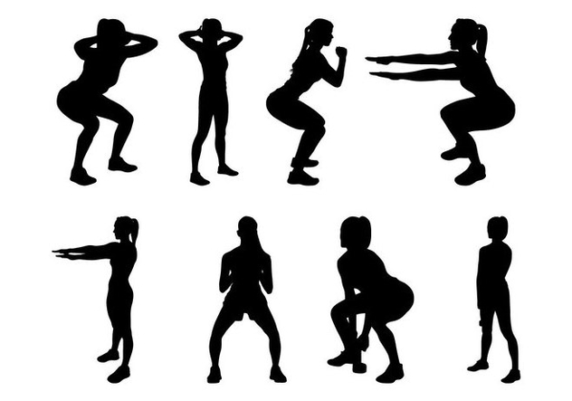 Free Fitness Silhouettes Vector - Free vector #402541
