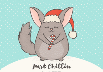 Free Vector Christmas Cartoon Chinchilla - Free vector #402551
