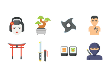Free Japan Icons - vector #402611 gratis
